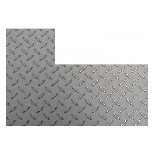 chapa inox antideslizante rectangular con corte derecho