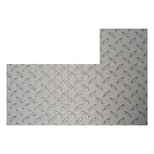 chapa inox antideslizante rectangular con corte izquierdo