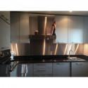 salpicadero a medida inox de cocina con corte izquierdo