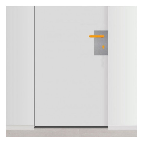 placa de empuje inox 15cm x 30cm con 2 agujeros para lado derecho de puerta