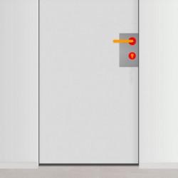 placa de empuje inox 15cm x 30cm con 6 agujeros para lado derecho de puerta