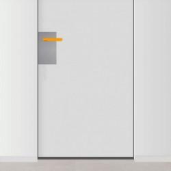 placa de empuje inox 15cm x 30cm con 1 agujero para lado izquierdo de puerta