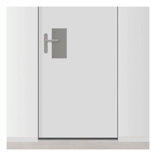 placa de empuje inox rectangular 15 x 30 cm para puerta