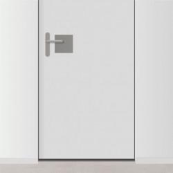 placa de empuje inox cuadrada 15cm x 15cm para puerta