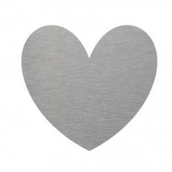 corazón decorativo en inox