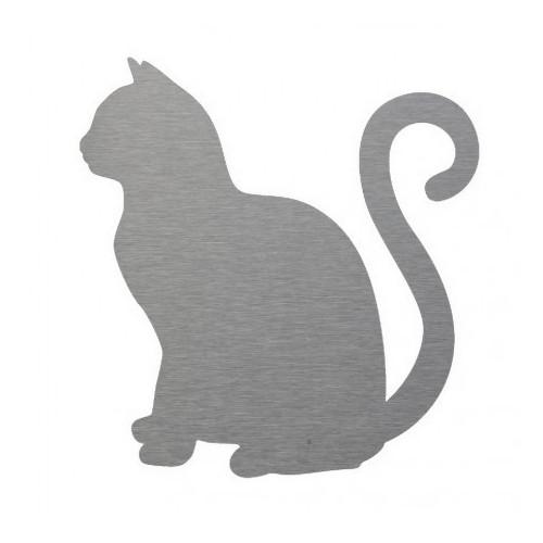 gato decorativo en inox