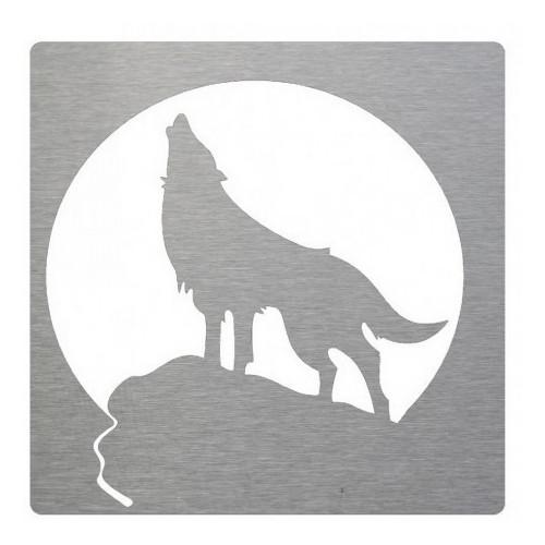 lobo decorativo en inox