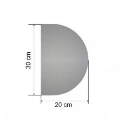 placa de empuje inox semi circular 20 cm x 30 cm para puerta
