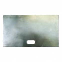 Plancha rectangular con agujero ovalado