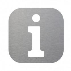pictograma información en inox