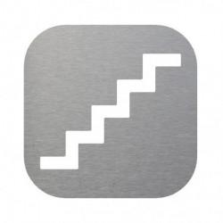 pictograma escalera en inox