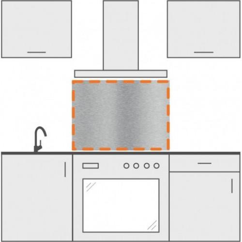 salpicadero inox de cocina 75-cm x 70-cm