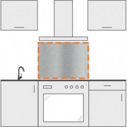 salpicadero inox de cocina 90 cm x 70 cm