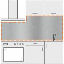 Frente de cocina con 1 corte a la izquierda