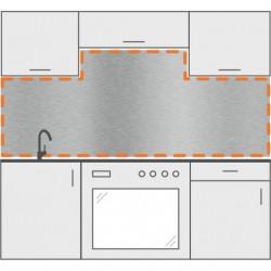 Frente de cocina con 2 cortes