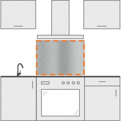 panel antisalpicaduras inox 70 x 70 cm