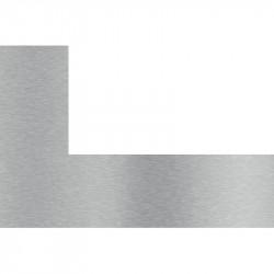chapa en inox satinado con corte a la derecha