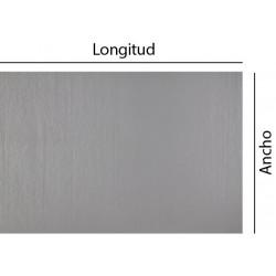 Chapa rectangular a medida en inox bruto