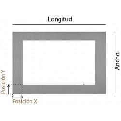 Marco rectangular a medida en inox bruto