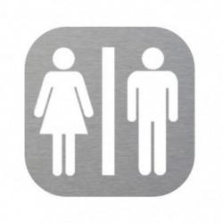 placa inox wc mixto