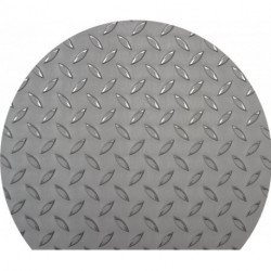 placa semicircular inox antideslizante