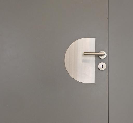 placa de puerta